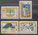 Poštovní známky Nizozemské Antily 1980 Dětské kresby Mi# 432-35