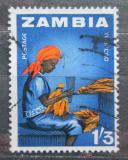 Poštovní známka Zambie 1964 Svazkování tabáku Mi# 9