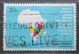 Poštovní známka Zambie 1985 Mapa Afriky Mi# 334