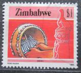Poštovní známka Zimbabwe 1985 Mbira Mi# 328