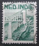 Poštovní známka Nizozemská Indie 1946 Železniční most Mi# 333