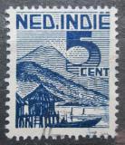 Poštovní známka Nizozemská Indie 1946 Loď na jezeře Mi# 336