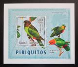 Poštovní známka Guinea-Bissau 2007 Papoušci DELUXE Mi# 3597 Block