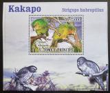 Poštovní známka Svatý Tomáš 2009 Papoušci DELUXE Mi# 3886 Block