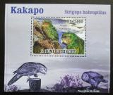Poštovní známka Svatý Tomáš 2009 Papoušci DELUXE Mi# 3888 Block