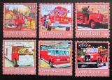 Poštovní známky Guinea-Bissau 2001 Hasičská auta Mi# 1743-48 Kat 9€