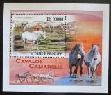 Poštovní známka Svatý Tomáš 2010 Koně DELUXE Mi# 4365 Block