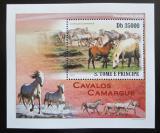 Poštovní známka Svatý Tomáš 2010 Koně DELUXE Mi# 4366 Block