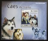 Poštovní známka Svatý Tomáš 2008 Tažní psi DELUXE Mi# 3580 Block