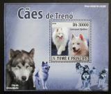 Poštovní známka Svatý Tomáš 2008 Tažní psi DELUXE Mi# 3582 Block