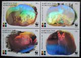 Poštovní známky Kyrgyzstán 1999 Liška, WWF Hologram Mi# 172-75 Kat 10€