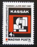Poštovní známka Maďarsko 1987 Umění, Lajos Kassák Mi# 3884