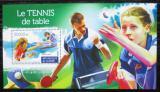 Poštovní známka Guinea 2015 Stolní tenis Mi# Block 2552 Kat 14€