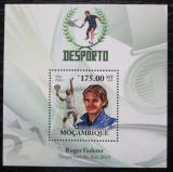 Poštovní známka Mosambik 2010 Roger Federer, tenis Mi# Block 343 Kat 10€