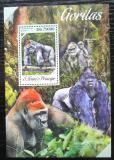 Poštovní známka Svatý Tomáš 2013 Gorily Mi# Block 938 Kat 8€