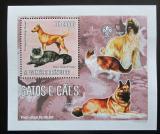 Poštovní známka Svatý Tomáš 2006 Psi a kočky DELUXE Mi# 2800 Block