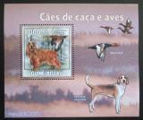Poštovní známka Guinea-Bissau 2009 Lovečtí psi a kachny DELUXE Mi# 4490 Block