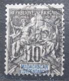 Poštovní známka Madagaskar 1896 Koloniální alegorie Mi# 32