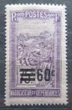 Poštovní známka Madagaskar 1922 Přeprava na nosítkách přetisk Mi# 171