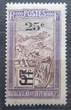 Poštovní známka Madagaskar 1924 Přeprava na nosítkách přetisk Mi# 170