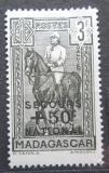Poštovní známka Madagaskar 1942 Generál Gallieni přetisk Mi# 283