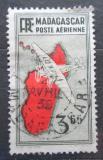Poštovní známka Madagaskar 1938 Letadlo a mapa Mi# 219