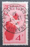 Poštovní známka Madagaskar 1935 Letadlo a mapa Mi# 220
