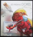 Poštovní známka Burundi 2012 Bažant zlatý Mi# Block 283 Kat 9€