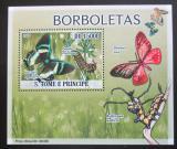 Poštovní známka Svatý Tomáš 2009 Motýli DELUXE Mi# 3851 Block
