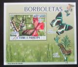 Poštovní známka Svatý Tomáš 2009 Motýli DELUXE Mi# 3852 Block