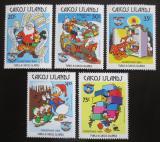 Poštovní známky Caicos 1984 Disney, vánoce Mi# 56-60 Kat 15€
