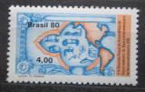 Poštovní známka Brazílie 1980 Mapa Ameriky Mi# Mi# 1759