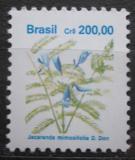 Poštovní známka Brazílie 1991 Žakaranda mimózolistá Mi# Mi# 2420