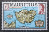 Poštovní známka Mauricius 1978 Mapa ostrova Mi# Mi# 443 I X A