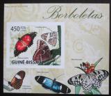 Poštovní známka Guinea-Bissau 2009 Motýli neperf. DELUXE Mi# Mi# 4504 B Block