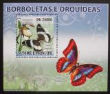 Poštovní známka Svatý Tomáš 2008 Motýli DELUXE Mi# Mi# 3634 Block