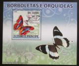 Poštovní známka Svatý Tomáš 2008 Motýli DELUXE Mi# Mi# 3635 Block