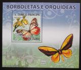 Poštovní známka Svatý Tomáš 2008 Motýli DELUXE Mi# Mi# 3636 Block