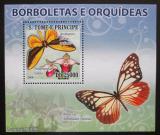 Poštovní známka Svatý Tomáš 2008 Motýli DELUXE Mi# Mi# 3637 Block