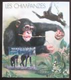 Poštovní známka Burundi 2012 Šimpanzi Mi# Mi# Block 295 Kat 9€