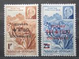 Poštovní známky Madagaskar 1944 Maršál Philippe Pétain přetisk Mi# Mi# 371-72