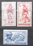 Poštovní známky Madagaskar 1941 Obrana vlasti Mi# Mi# 267-69 Kat 5.80€
