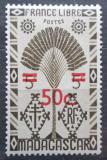 Poštovní známka Madagaskar 1944 Strom cestovatelů přetisk Mi# Mi# 373
