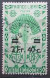 Poštovní známka Madagaskar 1944 Strom cestovatelů přetisk Mi# Mi# 379