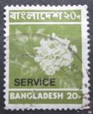 Poštovní známka Bangladéš 1976 Jiřiny, služební Mi# 14