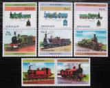 Poštovní známky Paraguay 1984 Lokomotivy s kupónem 2 Mi# 3779-85