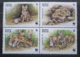 Poštovní známky Kyrgyzstán 1999 Korsak, WWF Mi# 168-71 Kat 6€
