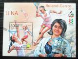 Poštovní známka Guinea-Bissau 2011 Tenis, Roland-Garros Mi# Block 938 Kat 12€