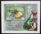 Poštovní známka Svatý Tomáš 2007 Motýli a jejich nepřátelé DELUXE Mi# 3008 Block