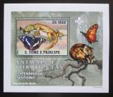 Poštovní známka Svatý Tomáš 2007 Motýli a jejich nepřátelé DELUXE Mi# 3009 Block